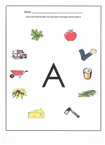 Simple worksheets for the letters and their sounds.