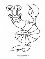 shrimp coloring page
