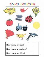 color/counting worksheet