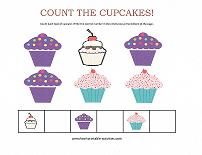 counting cupcakes worksheet
