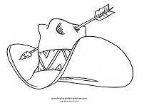 Top 25 Free Printabe Cowboy Coloring Pages Online |Small Cowboy Hat Coloring Page