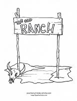 ranch coloring page