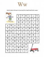 Letter W Maze