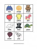 color bingo cards