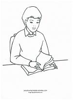 boy at school coloring page