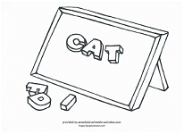 spelling lesson coloring page