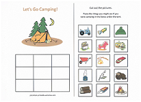 what goes camping worksheet