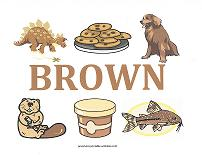 brown objects wall card
