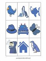 blue color matching game cards