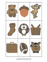 brown color match game cards