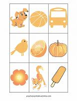 orange color match game cards