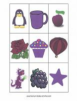 purple color match game cards