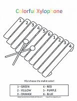 xylophone coloring by number page