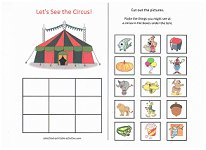 what goes with a circus worksheet