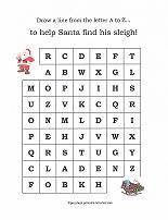 christmas ABC maze