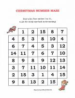 christmas holiday counting maze activity
