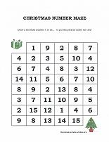 christmas number maze