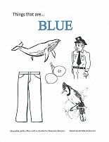 learning blue coloring page