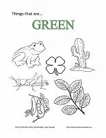Learning Green Coloring Page