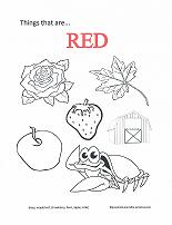 learning red coloring page - Red Coloring Pages