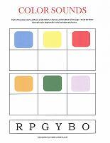 color sounds worksheet