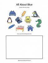 color blue worksheet