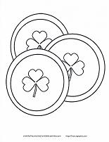 St patricks day coloring pages for Pot of gold coloring page printable