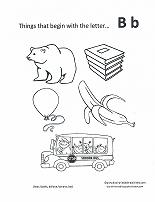B Sound Coloring Pages  Printable Coloring Pages