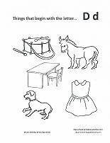 letter d coloring page