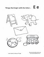 letter e coloring page - Activities To Print Out