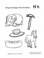 letter h coloring page print out coloring pages