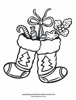 christmas stockings coloring page