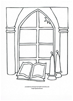 church window coloring page
