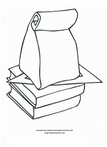 sack lunch for school coloring page