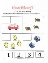 Printables Preschool Cut And Paste Worksheets number worksheets counting 1 4 worksheet