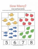 Printables Preschool Cut And Paste Worksheets number worksheets counting 5 8 worksheet