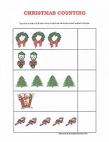 counting worksheet with christmas theme