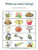 preschool category worksheet