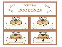 dog counting flashcards