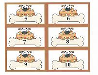 dog theme counting cards