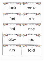 sight words flashcards