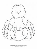 baby chick with easter eggs coloring page