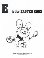 E is for Easter Eggs coloring page
