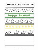 printable easter egg holder craft