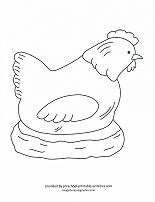 hen coloring page