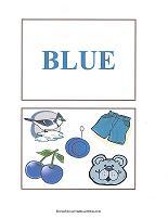 blue color flash cards