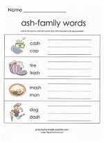 ash family worksheet