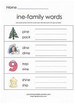 ine family worksheet