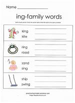 ing family worksheet