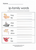 ip family worksheet